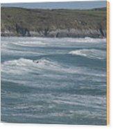 St. Davids Coastline Wood Print