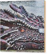 St Davids Day Dragon Wood Print