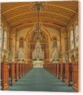 St Edward Interior Wood Print