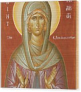 St Elizabeth The Wonderworker Wood Print by Julia Bridget Hayes