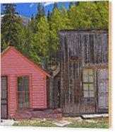 St. Elmo Pink House And Barn Wood Print