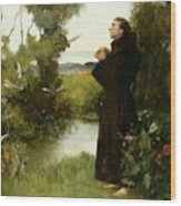 St. Francis Wood Print by Albert Chevallier Tayler