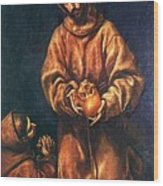 St Francis And Brother Rufus 1606 Wood Print