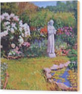 St. Francis In The Garden Wood Print