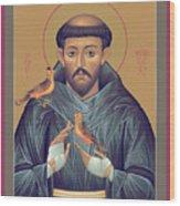 St. Francis Of Assisi - Rlfob Wood Print