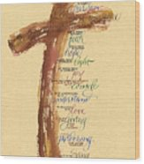 St Francis Peace Prayer  Wood Print by Judy Dodds