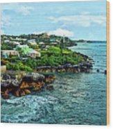 St. George Bermuda Shoreline Wood Print