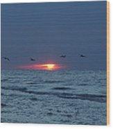 St. George Island Sunrise Wood Print