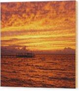 St. George Island Sunset Wood Print