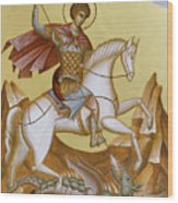 St George Wood Print