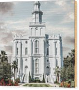 St George Temple - Tower of the Lord Wood Print
