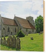 St George's Church At Arreton Wood Print by Rod Johnson