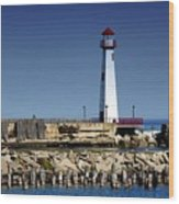 St. Ignace Lighthouse Wood Print