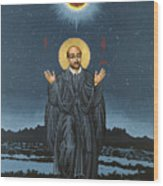 St. Ignatius In Prayer Beneath The Stars 137 Wood Print