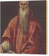 St Jerome As Cardinal Wood Print