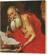 St. Jerome In The Wilderness Wood Print
