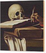 St. Jerome Writing Wood Print