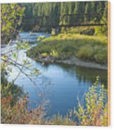St. Joe River Wood Print
