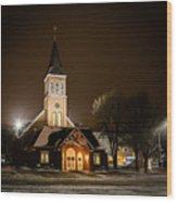 St Joes Church Mandan 6 Wood Print