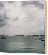 St John - Boats Islands Clouds Wood Print