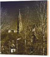 St. John The Baptist From The Rail Road Trestle In Manayunk Wood Print