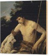 St John The Baptist In The Wilderness 1625 Wood Print