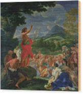 St John The Baptist Preaching Wood Print