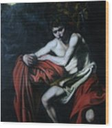 St John The Baptist Reproduction Wood Print