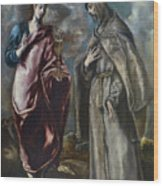 St. John The Evangelist And St. Francis Of Assisi Wood Print