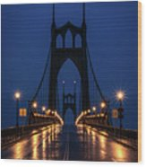St Johns Bridge Shine Wood Print