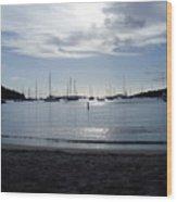 St. Johns Island Sunset Wood Print