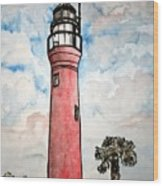 St Johns River Lighthouse Florida Wood Print