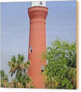St Johns River Lighthouse Wood Print