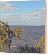 St. Johns River Meets The Ocean Wood Print