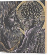 St. Joseph And The Child Jesus Wood Print