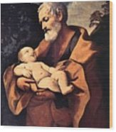 St Joseph Wood Print