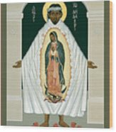 St. Juan Diego And The Miracle Of Guadalupe - Rljdm Wood Print