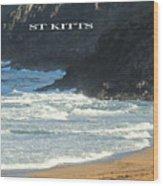 St Kitts Poster Wood Print