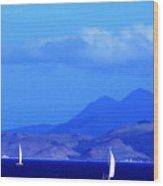 St Kitts Sailboats Wood Print by Thomas R Fletcher