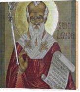 St Leander Wood Print