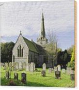 St Leonard's Church At Monyash Wood Print
