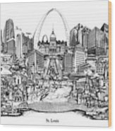 St. Louis 4 Wood Print