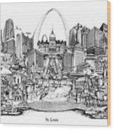 St. Louis 4 Wood Print