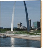 St Louis Arch Wood Print