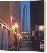 St. Louis Arch Wood Print by Steve Karol