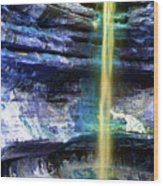 St. Louis Canyon Liquid Gold Wood Print