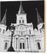 St. Louis Cathedral Drama In New Orleans Wood Print