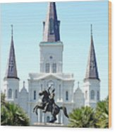 St. Louis Cathedral From Jackson Square Wood Print