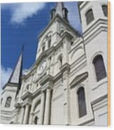 St. Louis Cathedral In The Afternoon Wood Print