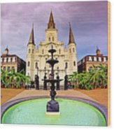St. Louis Cathedral - New Orleans - Louisiana Wood Print